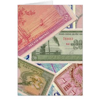 Papel moeda cartao