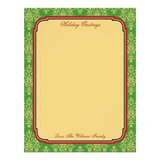Papel personalizado do papel de carta do feriado d