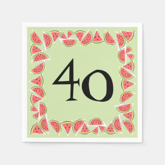 Papel quadrado dos guardanapo da idade 40 de