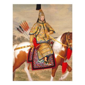Papel Timbrado 乾隆帝 do imperador do Qianlong de China na armadura
