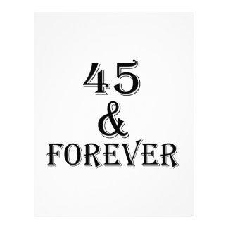 Papel Timbrado 45 e para sempre design do aniversário