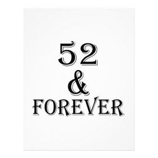 Papel Timbrado 52 e para sempre design do aniversário