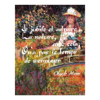 Papel Timbrado A natureza no art. de Monet