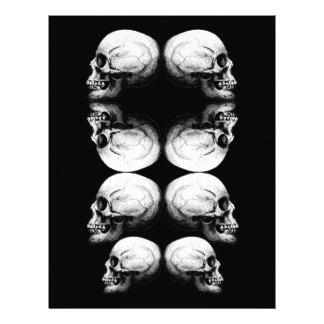 Papel Timbrado A obscuridade avançada do perfil do crânio protege
