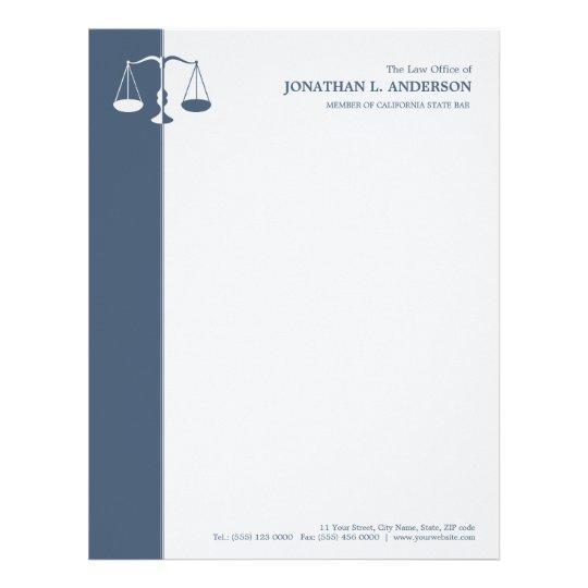 Papel Timbrado Advogado/advogado - cabeçalho azul