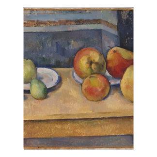 Papel Timbrado Ainda vida com maçãs e peras