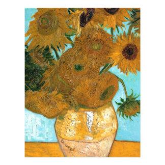 Papel Timbrado Ainda vida: Girassóis - Vincent van Gogh