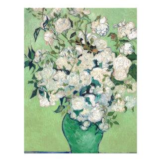 Papel Timbrado Ainda vida: Vaso com rosas - Vincent van Gogh
