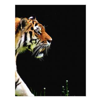 Papel Timbrado Aproximação do tigre - trabalhos de arte do animal