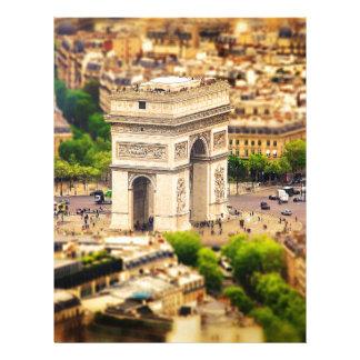 Papel Timbrado Arco do Triunfo de l'Étoile, Paris, France