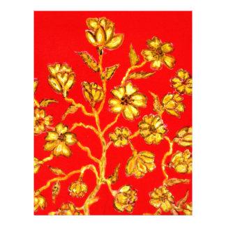 Papel Timbrado Arte dourada de Sakura