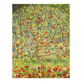 Papel Timbrado Árvore de Gustavo Klimt Apple