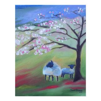 Papel Timbrado Árvore dos carneiros e de cereja