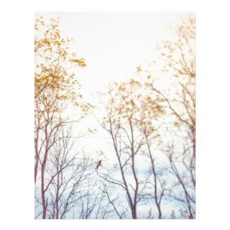 Papel Timbrado Árvores do inverno