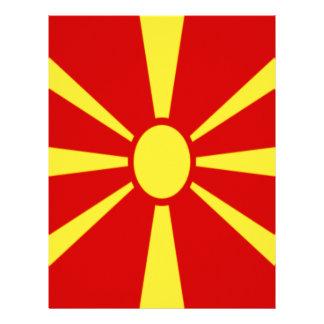 Papel Timbrado Baixo custo! Bandeira de Macedónia