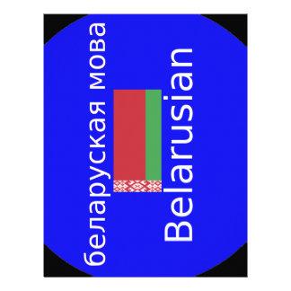 Papel Timbrado Bandeira de Belarus e design da língua