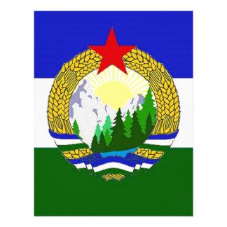 Papel Timbrado Bandeira de Cascadia socialista