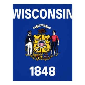 Papel Timbrado Bandeira de Wisconsin