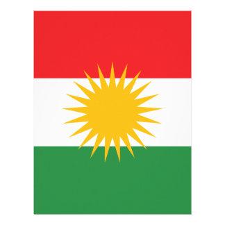 Papel Timbrado Bandeira do Curdistão; Curdo; Curdo