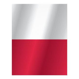 Papel Timbrado Bandeira do Polônia