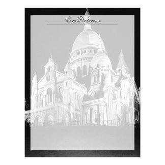 Papel Timbrado Basílica de France Paris Sacre Coeur do vintage