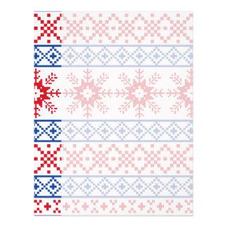 Papel Timbrado Beiras nórdicas do floco de neve do Natal