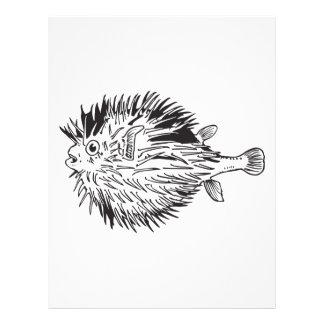 Papel Timbrado Blowfish do Porcupinefish aka