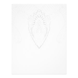 Papel Timbrado Branco do estilo da mandala do desenho da ram