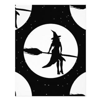 Papel Timbrado bruxa do Dia das Bruxas
