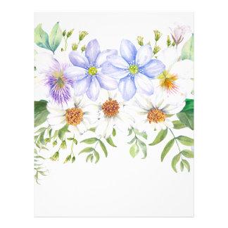 Papel Timbrado Buquê floral do campo