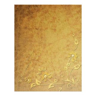 Papel Timbrado Cabeçalho do detalhe do ouro