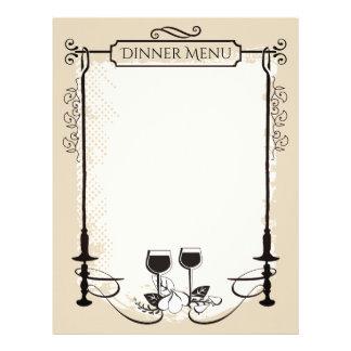 Papel Timbrado Cabeçalho feito sob encomenda do menu do vinho da