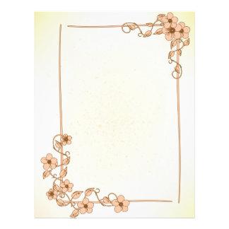 Papel Timbrado Cabeçalho floral do casamento