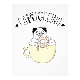 Papel Timbrado CaPUGccino bonito super! Pugs & café, que outro?