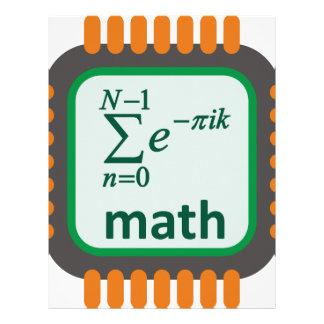 Papel Timbrado Chip de computador da matemática