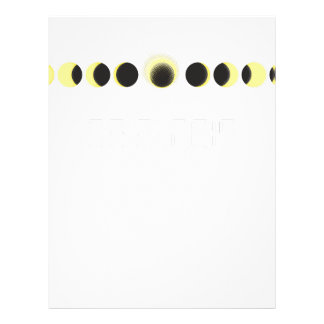 Papel Timbrado Ciclo total do eclipse solar