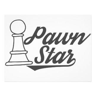 Papel Timbrado clube de xadrez da estrela do penhor