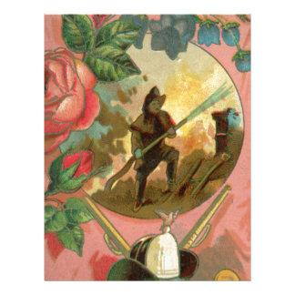 Papel Timbrado Cobrir do sapador-bombeiro do bombeiro dos 1880's