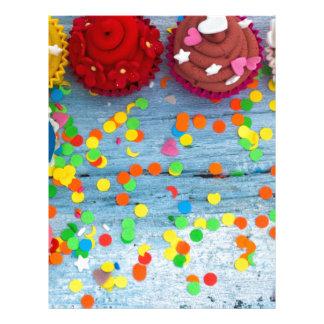 Papel Timbrado cupcakes coloridos