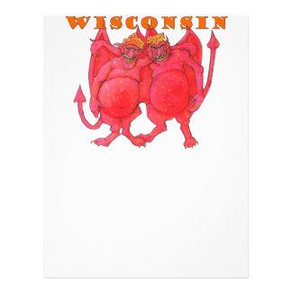 Papel Timbrado Demónios de Wisconsin Cheesehead