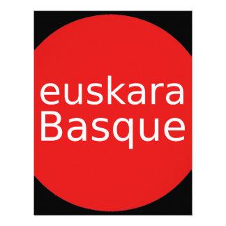 Papel Timbrado Design da língua Basque