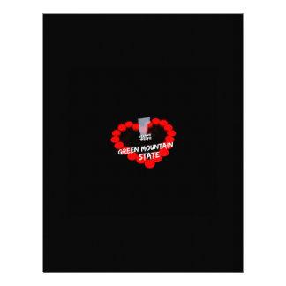 Papel Timbrado Design do coração da vela para o estado de Vermont