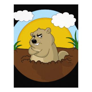 Papel Timbrado Dia de Groundhog