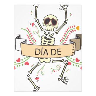 Papel Timbrado Diâmetro DE Festival do morto