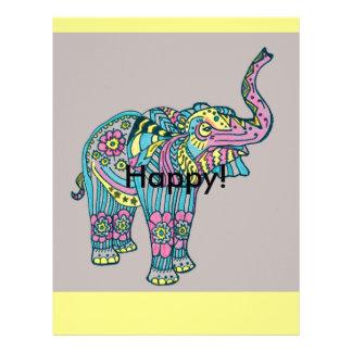 Papel Timbrado Elefante feliz