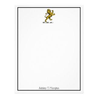 Papel Timbrado Emblema ereto C da crista do leão heráldico