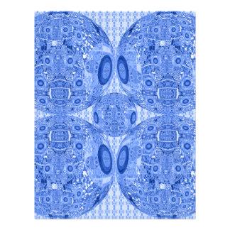 Papel Timbrado Esferas psicadélicos azuis