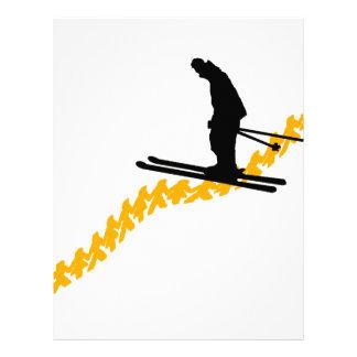 Papel Timbrado Esquiam as pessoas
