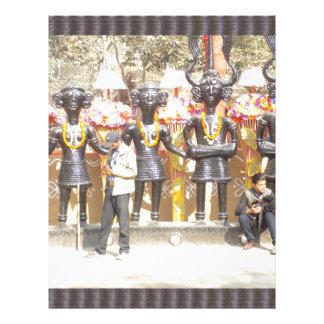 Papel Timbrado Estátua cultural da mostra de India de artistas