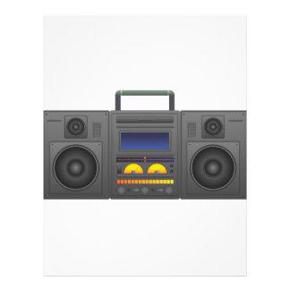 Papel Timbrado estilo Boombox de Hip Hop dos anos 80